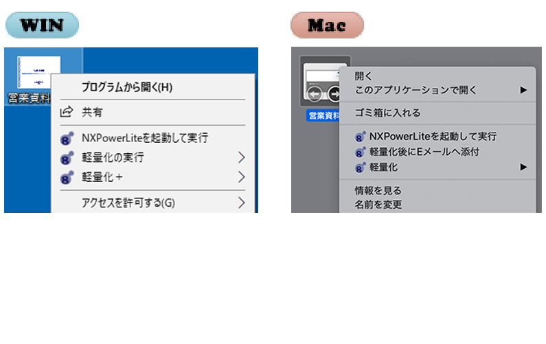 Microsoft Office/Finderとの統合